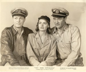 "A Columbia Theatre promotional photo for ""They Were Expendable"""