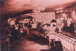 An older photograph showing what the lounge looked like inside The Columbia Theatre