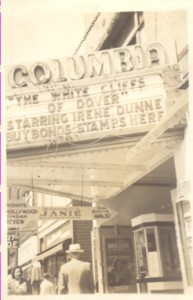 The marquee at The Columbia Theatre